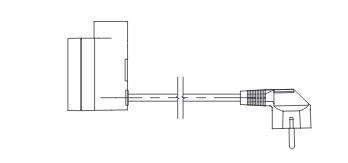 <p>Câble droit avec fiche (P)</p>